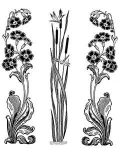 art tattoo Plants tattoo art nouveau new ideas Motifs Art Nouveau, Design Art Nouveau, Motif Art Deco, Art Nouveau Pattern, Art Nouveau Mucha, Art Nouveau Tattoo, Tatuaje Art Nouveau, Dr Tattoo, Tatoo Art