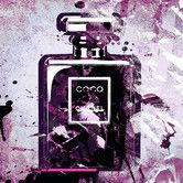 Found it at Wayfair - Mademoiselle Purple Graphic Art on Canvas