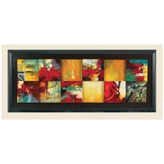 Bassett Mirror Thoroughly Modern Red Abstract Canvas Frame Art