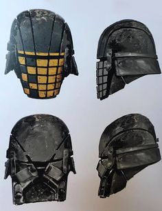 Jedi Killer Helmets (unused) Star Wars: The Force Awakens Star Wars Concept Art, Robot Concept Art, Knights Of Ren, Future Soldier, Star Wars Rpg, Star Wars Costumes, Disney Star Wars, Book Art, Medieval