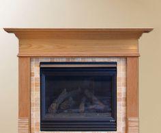 make a fireplace mantel - Like this design
