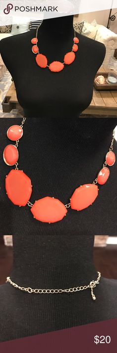 Adjustable coral and gold necklace! Are you ready for spring? You will be with this necklace! Jewelry Necklaces