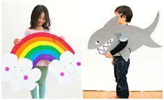 Come creare semplici costumi di Carnevale per bambini fai da te con carta, cartone, bottiglie di plastica e altri materiali di uso comune.