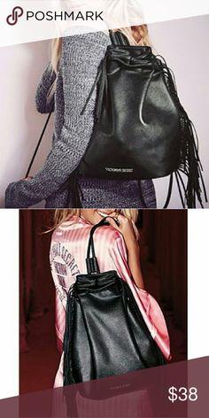 Pink Vs fringe back pack Nwot PINK Victoria's Secret Bags Backpacks