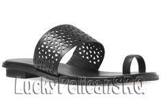 Michael Kors Wet look, Shiny Leather Medium (B, M) Women's Shoes Flat Sandals, Leather Sandals, Flats, Wet Look, Michael Kors Shoes, Toe Rings, Women's Shoes, Medium, Ebay