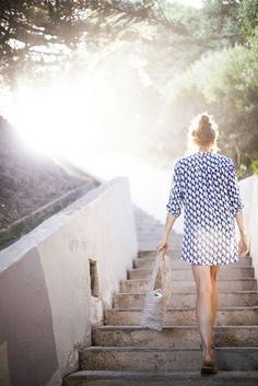 sassy button-up shirt = great beach cover-up