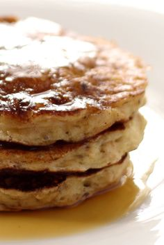 Cinnamon-Oatmeal Pancakes - Rolled oats help in giving these pancakes a hearty, nutty flavor. Serve them with butter and maple syrup or powdered sugar and bananas. Whip up a batch of these for your teenagers this weekend and watch the sweet smell of these yummy pancakes fill the house and miraculously raise them from their deep impenetrable slumber!