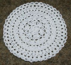 In The Round Dishcloth Crochet Pattern - Free Crochet Pattern Courtesy of Crochetnmore.com