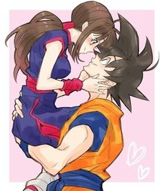 Goku and Chi-Chi.