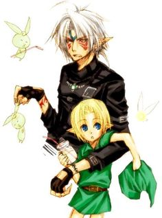 oni link and chibi link