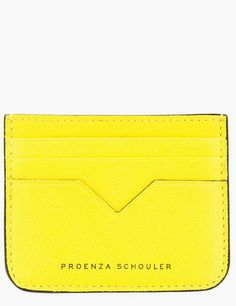 §PROENZA SCHOULER Sunshine Yellow Leather Cardholder - Lyst
