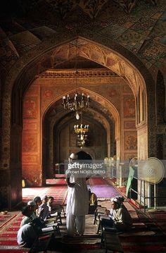 Muslim Koranic School in Masjid Wazir Khan (17th cent- Mosque) In Lahore, Pakistan In July, 1997.