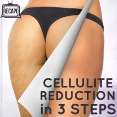 Cellulite Reduction in 3 Steps: 1. Breakdown fat with Turkish Coffee Rub (superfine grounds mixed with sugar + a little water to create paste), 2. Restore + Thicken Collagen with Red Foods (they contain vitamin C + lycopene; 2 servings/day), 3. Plump skin back up by dipping golf ball into organic olive oil and massaging into skin | Recapo re The Dr. Oz Show