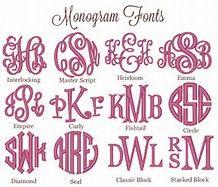 monogram style chart - Bing images