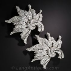 Magnificent Platinum and Diamond Clips