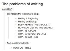 The problems of writing