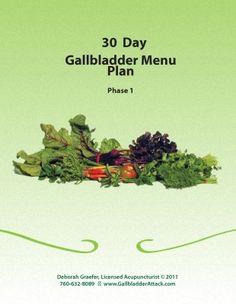 Gallbladder 30 Day Menu Plan. Download not a book