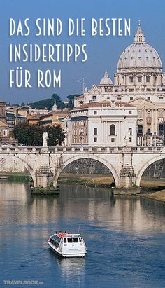 Rome offers so many great sights that you can get really sweaty on a city trip. So that you can see as much as possible and your trip has that certain something, TRAVELBOOK shows how you experience Rome like a local. These are the best insider tips Rome Travel, Italy Travel, Travel Usa, Destinations D'europe, Holiday Destinations, Koh Lanta Thailand, Travel Tags, Reisen In Europa, Voyage Europe