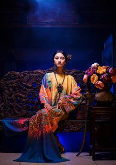 Vietnam Ao Dai by designer The Huy and Huynh Hai Long