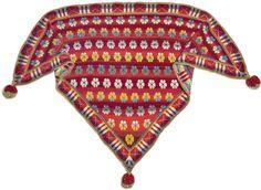 Stricken Schal  Maltesertuch Rot  Schals mit stricken anleitung  Christel Seyfarth aus Dänemark