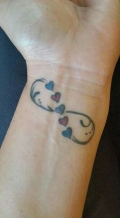 Infinity hearts with birthstones maybe? mother tattoos, mother daughter tattoos, tattoos for daughters Wrist Tattoos For Women, Tattoos For Women Small, Small Tattoos, Heart With Infinity Tattoo, Infinity Tattoos, Infinity Tattoo Family, Unique Infinity Tattoo, Infinity Tattoo Designs, Infinity Rings