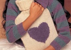 Free Knitting Pattern - Jessie Hot Water Bottle by Rowan | Knit this hot water bottle cover for someone you love.