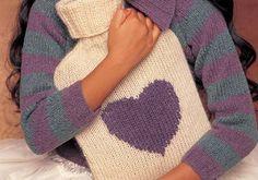 Jessie Hot Water Bottle - Free Knitting Pattern ericka knight, free but register : thanks so xox Knitting Patterns Free, Knit Patterns, Free Knitting, Crochet Motifs, Knit Crochet, Knitted Animals, Knitted Hats, Water Bottle Covers, Crochet Decoration