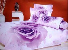 Vibrant Purple Rose Bedding Set Live a better life, start with @beddinginn