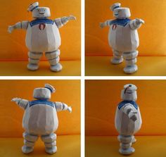 Ghostbusters - Marshmallow Man Paper Model - by Mike McDermott - == -  This very well done paper model of Stay Puft, the Marshmallow Man from Ghostbusters movies, was created by North American designer Mike McDermott, aka Billybob884. The model you see above was assembled by Canadian designer Mee-Lin. Thanks to Billybob884 and Mee-Lin to make this post possible.