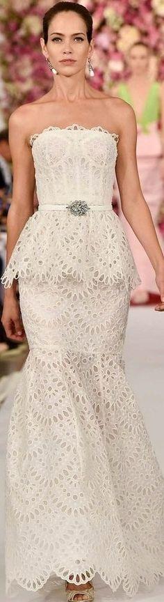 Oscar de la Renta Pre Fall 2015  For Authentic Vintage Wedding Jewelry go to: https://www.etsy.com/shop/ButterflyEffectInc