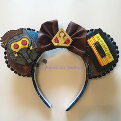 Guardians of the Galaxy: Mission Breakout inspired Mouse Ears Disney Ears Headband, Diy Disney Ears, Disney Mickey Ears, Minnie Mouse, Disney Headbands, Baby Headbands, Cute Disney Pictures, Disney Diy Crafts, Ann Doll