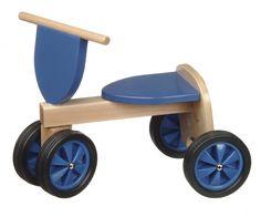 Mooie blauwe loopfiets , model Goochem .     Afmeting L 47 x H 38, zithoogte 22 cm