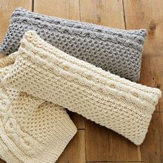 More sweater pillows