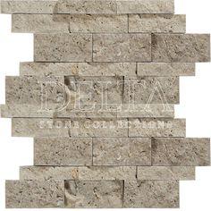 Kasgar Classic Travertine splitface mosaic 2,3/3,2/4,8x10 cm (DG 1169)