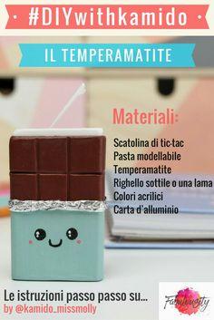 DIY Il temperamatite super KAWAII  #diy #tutorial #kawaii #fimo #tictac #chocolate #temperamatite su Fabulousity.it
