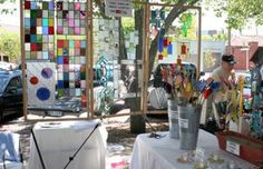 Tina Novoth, of Bello Art Glass, creates stained glass accents for home and garden; sun catchers, candle holders, Christmas ornaments, night lights and garden stakes.