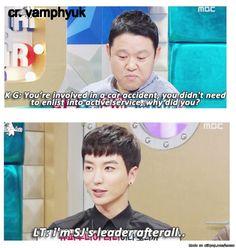 "One simple sentence. ""I am SJ's leader after all."" | allkpop Meme Center"