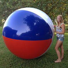 Giant 7-ft Red White & Blue Beach Ball for $99.95 each