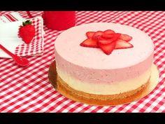 Tarta de Fresas y Chocolate Blanco sin Horno! - YouTube Cake Recipes, Dessert Recipes, Desserts, Moose Cake, Chess Cake, No Bake Cookies, Let Them Eat Cake, Food Inspiration, Cupcake Cakes