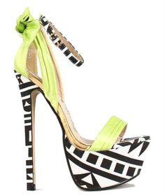 Blue Green Pleated Bow Open Toe Paltform Sandal High Heel Shoe Paris | eBay