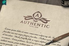 Ad: Authentic - Classy Vintage Logo by PenPal on An Classy Logo Template was crafted with fine attention to details. Best suited for Company Logo and Personal Branding which requires Classy Logos, Vintage Instagram, Luxury Logo, Elegant Logo, Graphic Design Software, Vintage Logo Design, Creative Artwork, Freelance Illustrator, Coreldraw