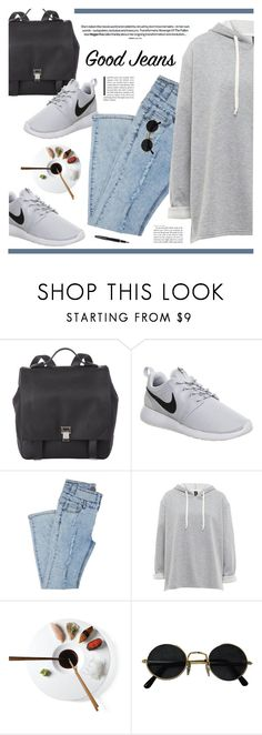 """""""Rock It! High-Waisted Skinny Jeans"""" by novalikarida ❤ liked on Polyvore featuring Proenza Schouler, NIKE, Fountain and falldenimtrend"""