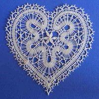 Vložit nové zboží | Fler.cz Crochet Diagram, Crochet Patterns, Lace Heart, Lace Jewelry, Bobbin Lace, Happy Valentines Day, Lace Detail, Knit Crochet, Hearts