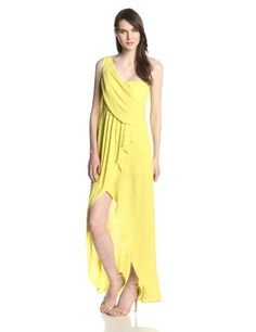 BCBGMAXAZRIA Women's Kail One Shoulder Drape Evening Dress, Light Lemongrass, 0 BCBGMAXAZRIA http://www.amazon.com/dp/B00IBDVF4I/ref=cm_sw_r_pi_dp_bLW4tb13MRAR6