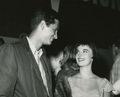 Natalie with actor Anthony Perkins #blackandwhite