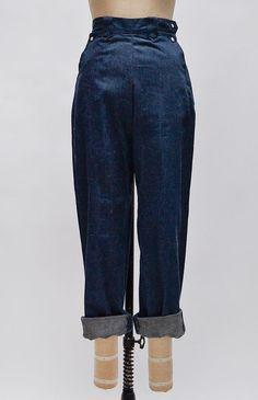 Percheron Field Jeans / vintage high waist jeans / 1950s denim jeans