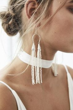 Ideas Boho Bridal Jewelry Grace Loves Lace For 2019 Bride Earrings, Lace Earrings, Tassel Jewelry, Wedding Earrings, Statement Earrings, Wedding Jewelry, Grace Loves Lace, Natalie Marie Jewellery, Lace Bride