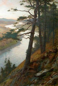 fleurdulys: The Winding Dee - Joseph Farquharson 1889