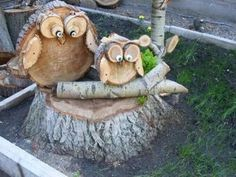Excellent Cost-Free wooden garden planters Ideas Pots, containers, and also 50 percent casks filled with plants put attraction to the lawn, nonetheless jar gar. Wood Log Crafts, Wood Slice Crafts, Diy Wood Projects, Woodworking Projects, Woodworking Desk, Owl Crafts, Diy And Crafts, Wood Animal, Creation Deco