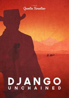 Django Unchained (2012) - Minimal Movie Poster by Dean Walton (Mr. Shabba)